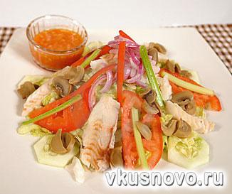 рецепты салатов из масляной рыбы